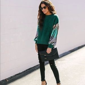 Sequin Knit Sweater From Vici